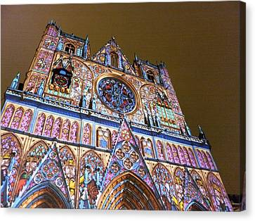 Cathedrale Saint-jean Illuminee Canvas Print