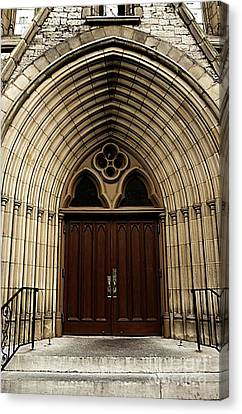 Catherdral Door's Canvas Print by Kathleen Struckle
