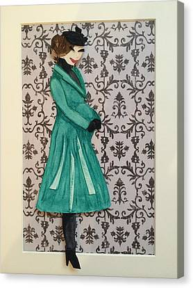 Catherine And The Royal Baby Canvas Print by Monica Bielski