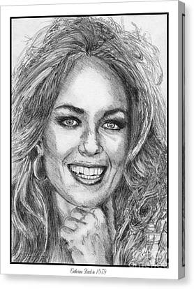 Catherine Bach In 1979 Canvas Print by J McCombie