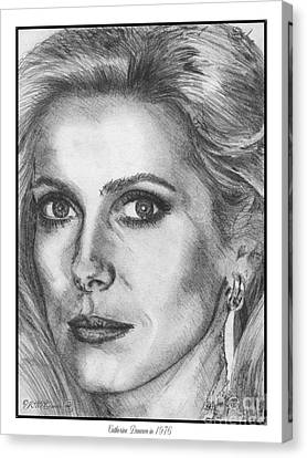 Catherine Deneuve In 1976 Canvas Print by J McCombie
