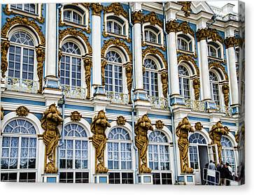 Catherine Palace Facade - St Petersburg  Russia Canvas Print by Jon Berghoff