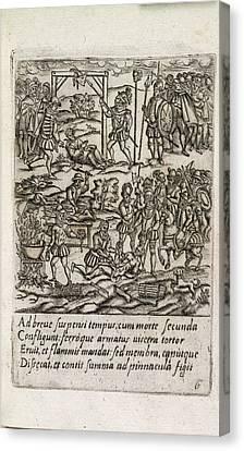 Catholic Priests Being Killed Canvas Print