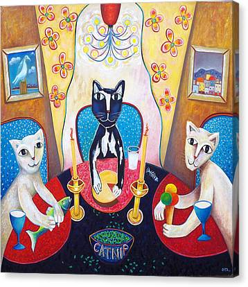 Catnip And Other Pleasures Canvas Print by Andrew Osta