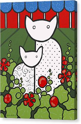 Cats 5 Canvas Print by Trudie Canwood