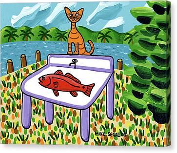 Cat's Fish - Cedar Key Canvas Print