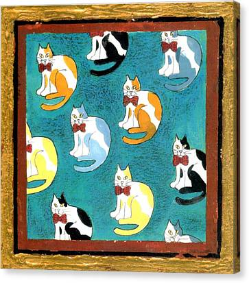 Cats Canvas Print by Genevieve Esson