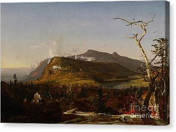 Catskill Mountain House Canvas Print by Jasper Francis Cropsey