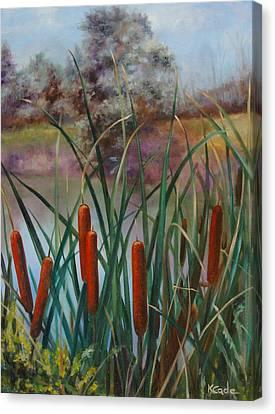 Cattail Canvas Print by Karen Cade