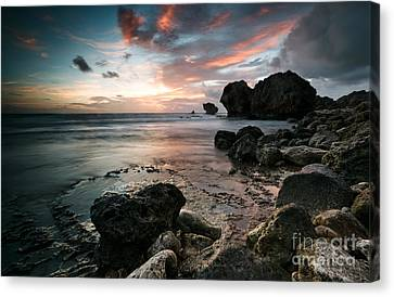Cattlewash Beach At Sunrise Canvas Print by Matteo Colombo