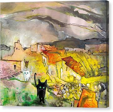 Catwalk Canvas Print by Miki De Goodaboom