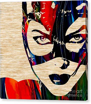 Super Heroes Canvas Print - Catwoman by Marvin Blaine