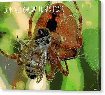 Caught Canvas Print by Heidi Manly
