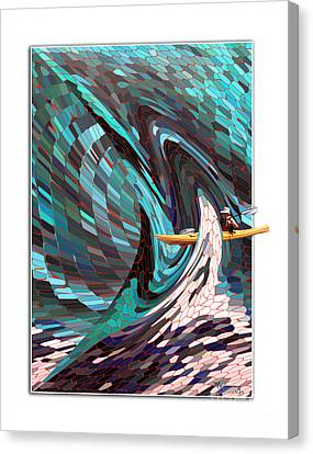 Caught In The Web Of Life Canvas Print by Mariarosa Rockefeller