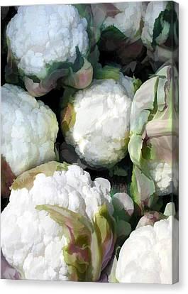 Cauliflower Bouquet Canvas Print by Elaine Plesser