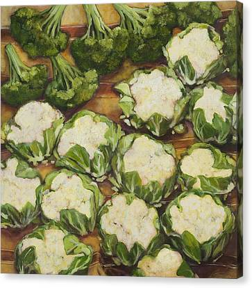 Cauliflower March Canvas Print by Jen Norton