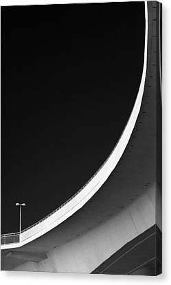 Causeway Arc Clearwater Florida Black And White Canvas Print