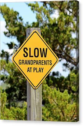 Caution Sign Canvas Print by Cynthia Guinn