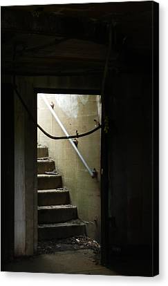 Cautionary Stairs Canvas Print