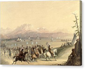 Cavalcade Canvas Print by Alfred Jacob Miller