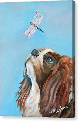 Cavalier King Charles Spaniel Canvas Print by Meghna Suvarna