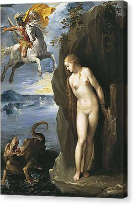 Cavaliere D�arpino. Perseus Canvas Print by Everett