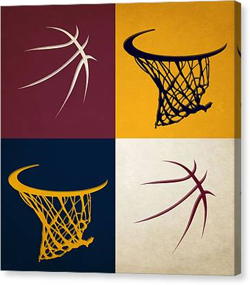 Cavaliers Ball And Hoop Canvas Print