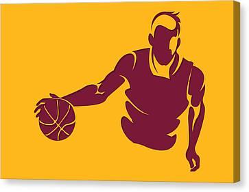Cavaliers Shadow Player1 Canvas Print by Joe Hamilton