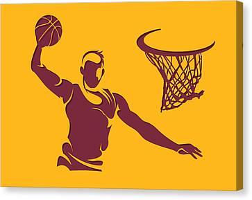 Cavaliers Shadow Player2 Canvas Print by Joe Hamilton