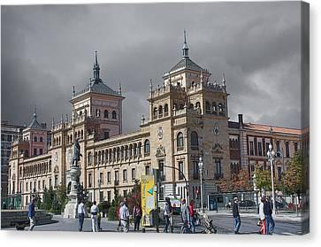 Canvas Print featuring the photograph Cavalry Academy Of Valladolid  by Angel Jesus De la Fuente