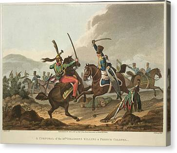 Cavalry Fighting Canvas Print by British Library