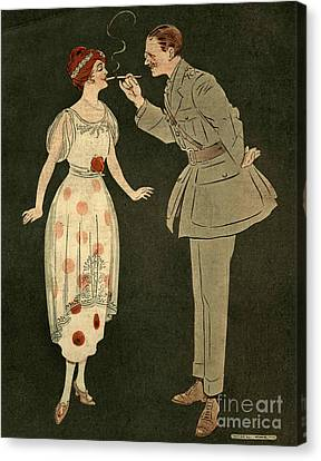 Cavander�s Army Club 1919 1910s Uk Canvas Print by The Advertising Archives