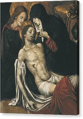 The Sacred Feminine Canvas Print - Cavaro, Pietro -1538. Descent. Beg by Everett