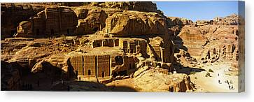 Petra Canvas Print - Cave Dwellings, Petra, Jordan by Panoramic Images