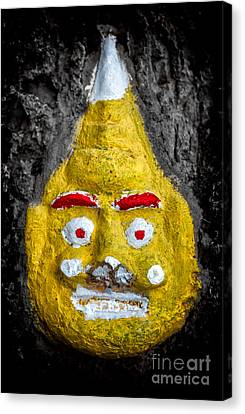 Cave Face 2 Canvas Print by Adrian Evans