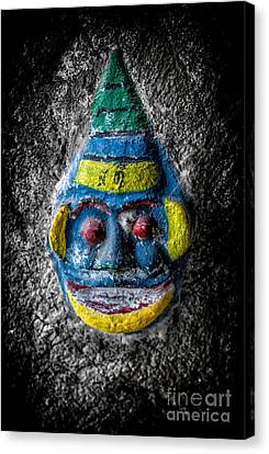 Cave Face 3 Canvas Print by Adrian Evans