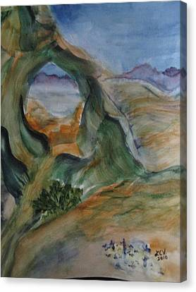 Cave In The Desert Canvas Print