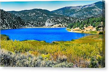 Cave Lake Canvas Print by Robert Bales