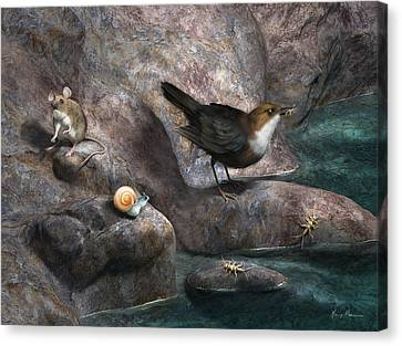 Cave Mouse And Friends Canvas Print by Gary Hanna