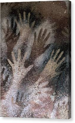 Cave Of The Hands. Argentina. Santa Canvas Print by Everett