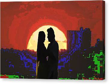 Cave Style Shadow Art  Dream Arched Getaway To Other World  Love Romance Taboo Society Reltionships  Canvas Print