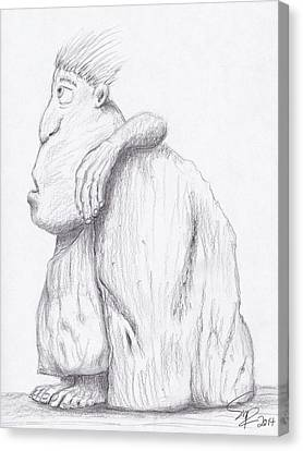 Caveman Canvas Print by Steven Powers SMP