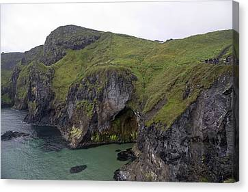 Mystical Landscape Canvas Print - Cavern Carrick-a-rede Ireland by Betsy Knapp
