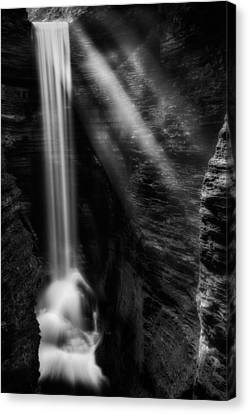 Cavern Cascade Canvas Print by Bill Wakeley