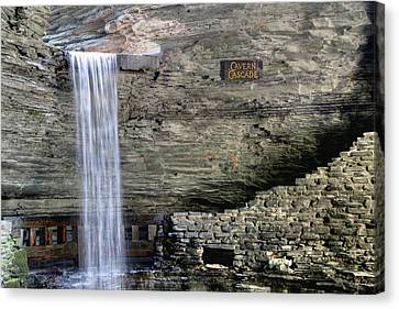 Canvas Print featuring the photograph Cavern Cascade by Gene Walls