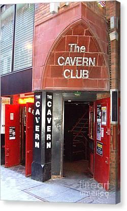 Cavern Club Entrance Mathew Street Liverpool Uk Canvas Print