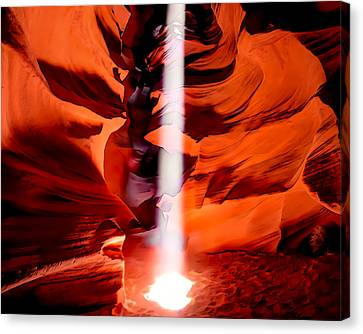 Cavern Lights Artistic Style - Antelope Canyon - Arizona Canvas Print