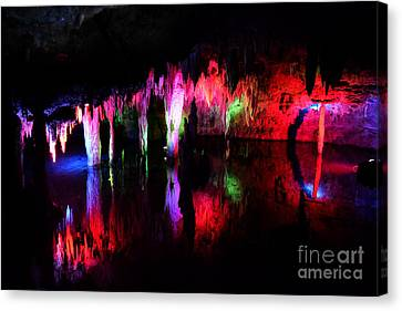Canvas Print featuring the photograph Caverns by Utopia Concepts
