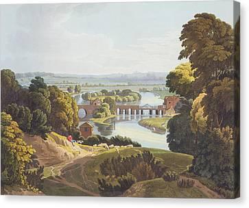 Caversham Bridge, Near Reading Canvas Print by William Havell