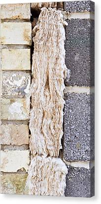Block Quilts Canvas Print - Cavity Insulation by Tom Gowanlock